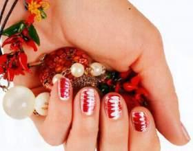 Необычные узоры на ногтях с помощью иголки фото