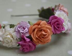 Ободки с цветами делаем сами фото