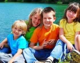 Отдых с детьми на озере фото