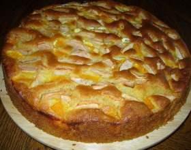 Открытый пирог с яблоками «классика» фото
