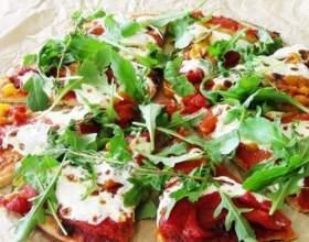 Пицца с белыми грибами фото