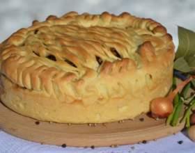 Пирог с капустой и сайрой фото