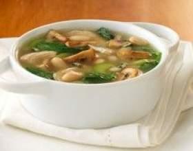 Постный суп из сушеных грибов с клецками фото