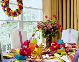 Праздничное украшение стола к пасхе фото