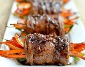 Роллы из говядины с овощами фото