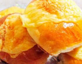 Слоеный сырный хлеб фото