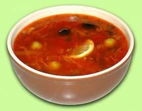 Солянка с грибами (вегетарианское блюдо) фото