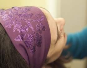 Как надевать повязку на голову фото