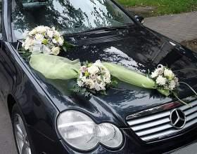 Как найти украшения для автомобиля на свадьбу фото