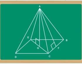 Как найти высоту в правильной пирамиде фото