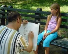 Как нарисовать портрет девочки фото