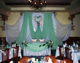 Как оформить зал к свадьбе фото