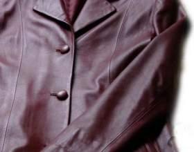 Как погладить куртку из кожи фото