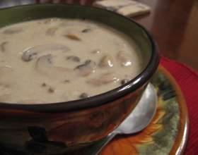 Как приготовить грибной суп из шампиньонов фото