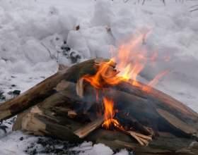 Как разжечь огонь фото