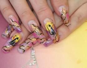 Как рисовать гелевыми ручками на ногтях фото
