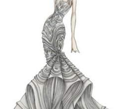 Как рисовать эскиз одежды фото