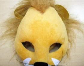 Как сделать маску льва фото