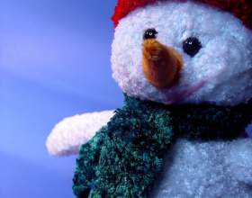Как сделать снеговика фото
