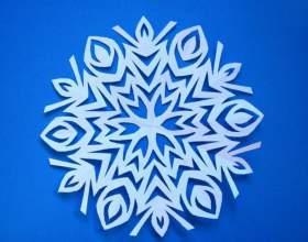 Как сделать снежинку из бумаги фото