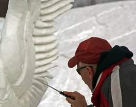 Как сделать снежную скульптуру фото