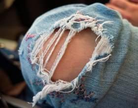 Как штопать джинсы? фото