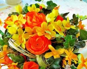Как составить букет из живых цветов фото