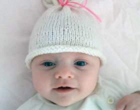 Как связать шапочку для новорожденного спицами фото