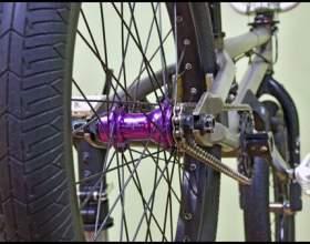 Как поставить колесо на велосипед фото