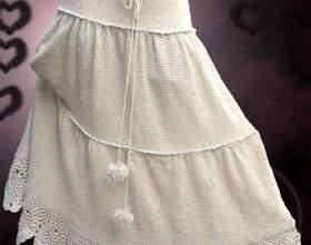 Как вязать юбку спицами фото