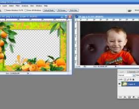 Как вставить в рамку фотографию в фотошопе фото