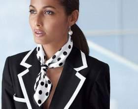 Как завязать шёлковый платок фото