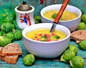 Суп из брюссельской капусты фото