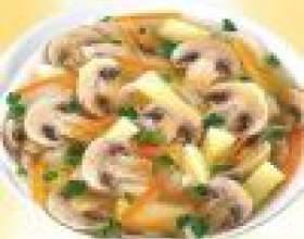 Суп из шампиньонов с картофелем фото
