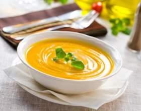 Суп-пюре из тыквы с креветками фото
