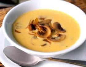 Суп с грибами и сыром фото