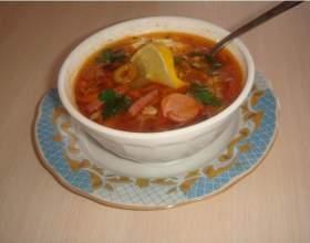 Суп - солянка с грибами фото