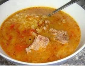 Традиционный грузинский суп харчо фото