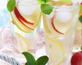 Ванильно-яблочный лимонад с имбирем фото