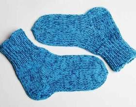 Вязание теплых носочков ребенку фото