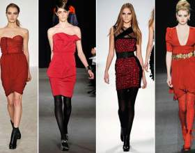 Выбираем колготки к платью красного цвета фото