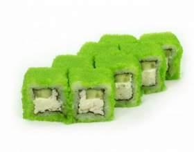 Зеленые роллы фото